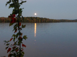 Moonlight over Nelson Lake